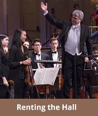 Mechanics Hall has five function rooms available for rent.